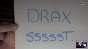 """""""quiet drax – you are waking up your mom!"""""""