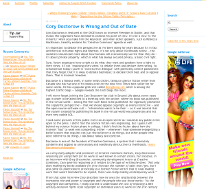 bikini campaign intrudes doctorow critique..