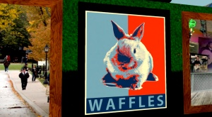 art by tinies involves waffles