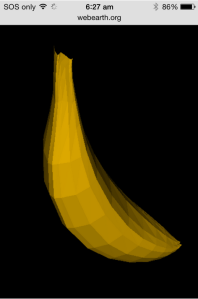 webGL version of banana
