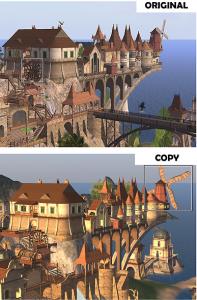 vintage village = an entire sim was stolen