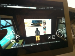 using sl go on ipad to watch sl avatar watching rl self playing sl go on ipad