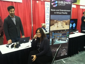 nonny and partner at their booth