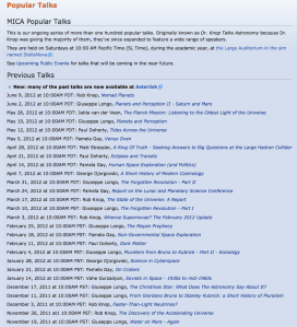 mica partial list of 2012 talks