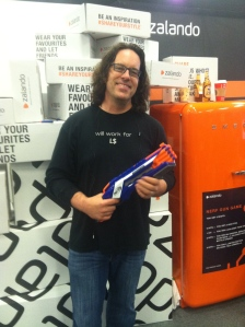 drax at zalando with gun to get free merch