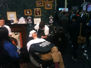 frank zappa getting a shave at websummit?