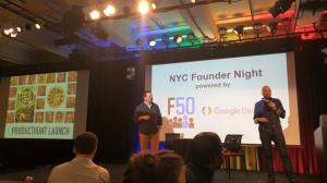 qarl and partner noah rosenberg at nyc founder night