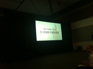the future is user-created?