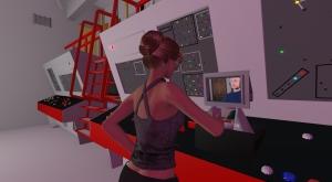 cathy in enterprise talking with vir linden