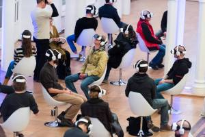 the future of vr = hip youngsters in appealing rooms