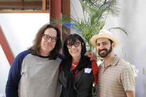 drax, drfran and chris colosi at upload collective at hifi hackathon april '16