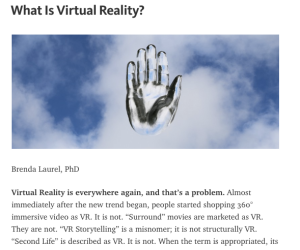 sl not vr according to a phd