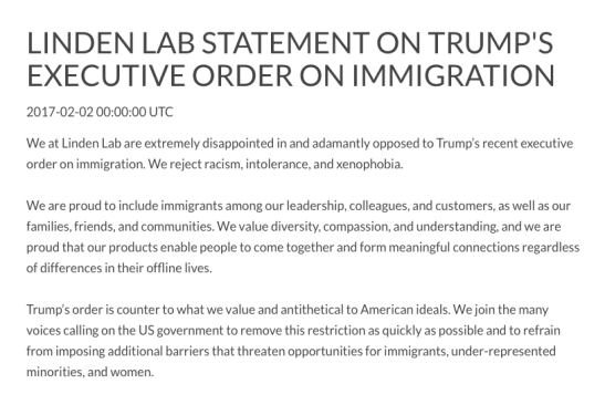 linden-lab-statement-on-trumps-muslim-ban