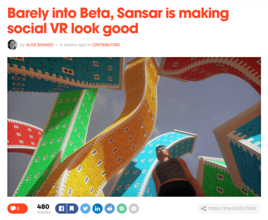 sansar on the next web