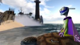 shyla on a hydro turtle