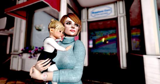 Aurore with child.jpg
